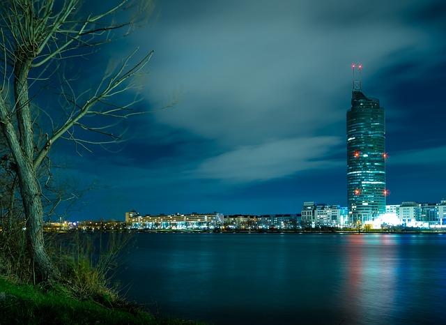 City, Waters, Urban Landscape, Skyline, Architecture