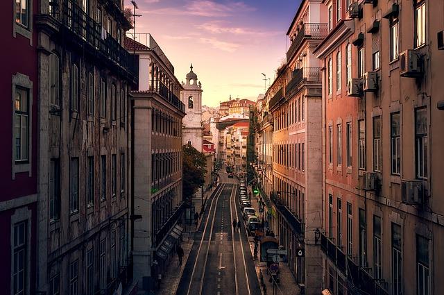 Lisbon, Portugal, City, Urban, Buildings, Church