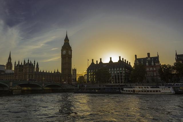 Sunset, London, Thames, Westminster, Urban, Famous