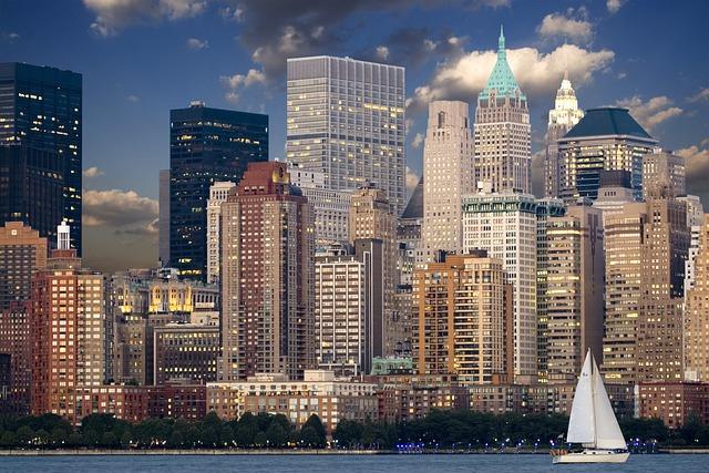 New York, Skyline, Manhattan, Hudson, Skyscraper, Urban