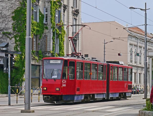 Tram, Belgrade, Serbia, Urban Transport, Two-part