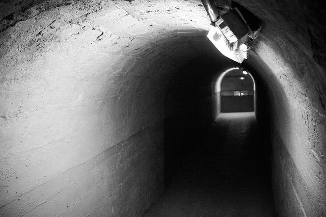 Tunnel, Bunker, Urbex, Light, Fluorescent Lamp, Path