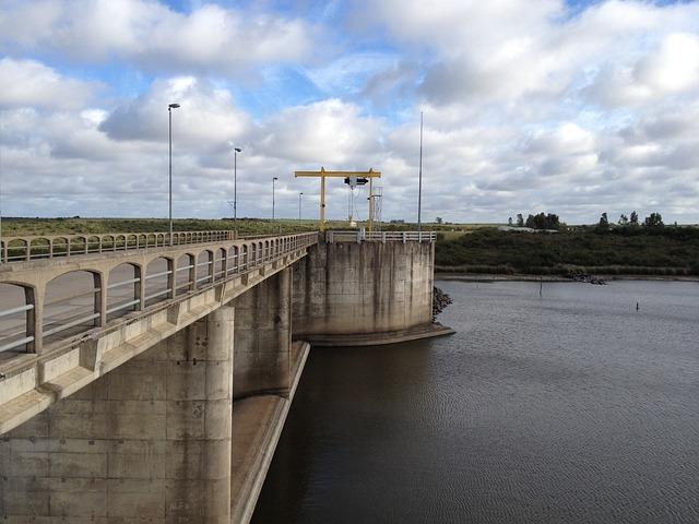 Dam, River, Uruguay, Tourism, Water, Landscape, Calm