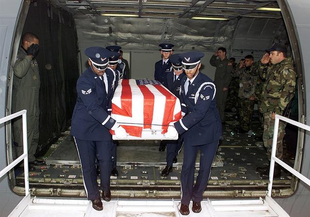 Us Air Force, Casket, Returning, Battle Casualty, Death