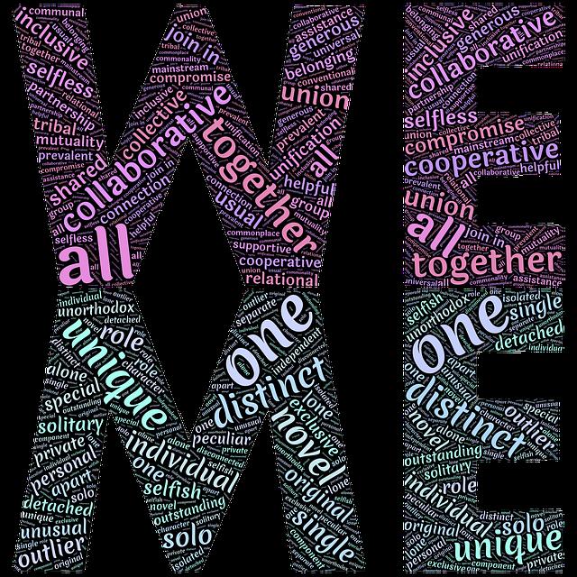 We, Me, Us, One, Individual, Separate, Unique