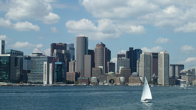 Boston, Usa, America, Port City, Sky, Building