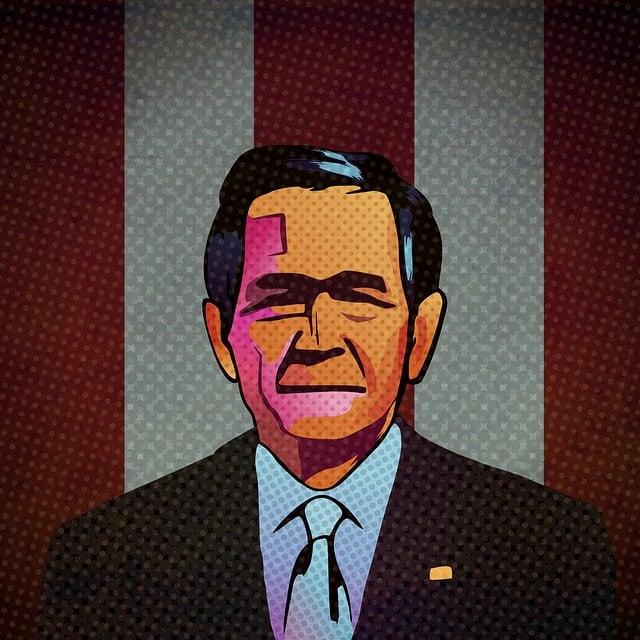 George W Bush, Pop Art, President, Usa, America, Nation
