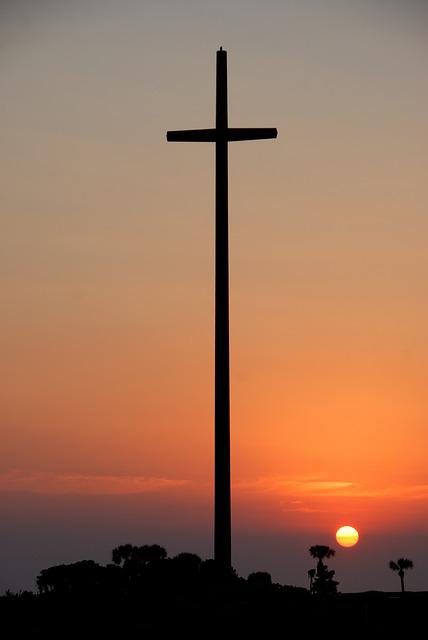 Great Cross, Sunrise, Sky, St Augustine, Florida, Usa
