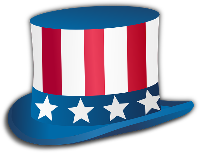 Uncle Sam, Hat, Stars, Usa, America, Red, Blue, White