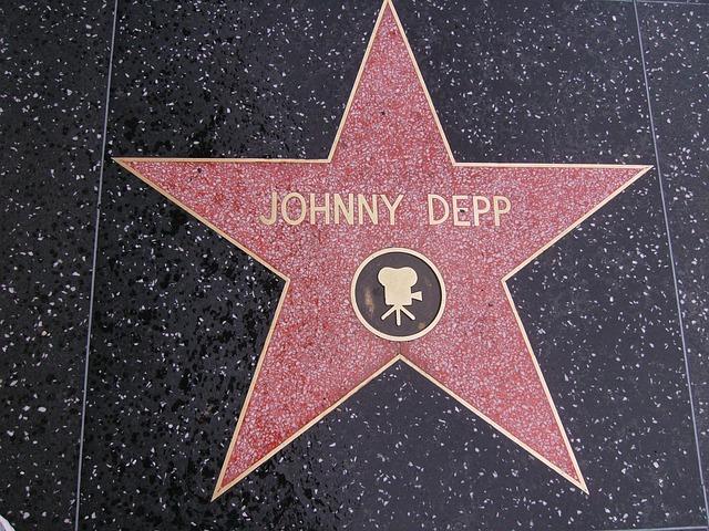 Star, Johnny Depp, Hollywood, Walk Of Fame, Usa, Street