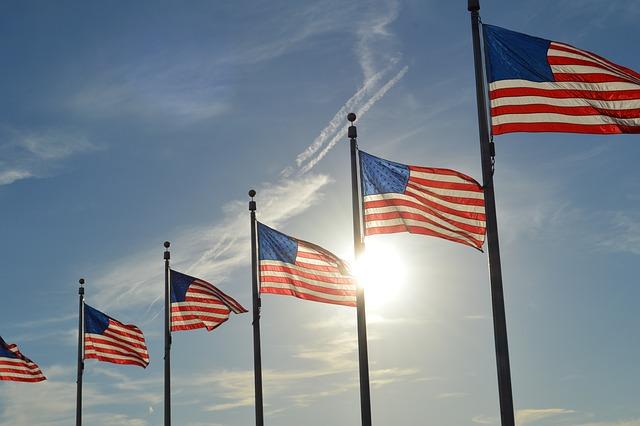 United States, Washington, Usa, Landscape, Flag, Clouds