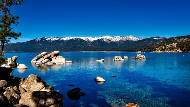 Lake Tahoe, California, Mountain, Forest, Usa, Vacation