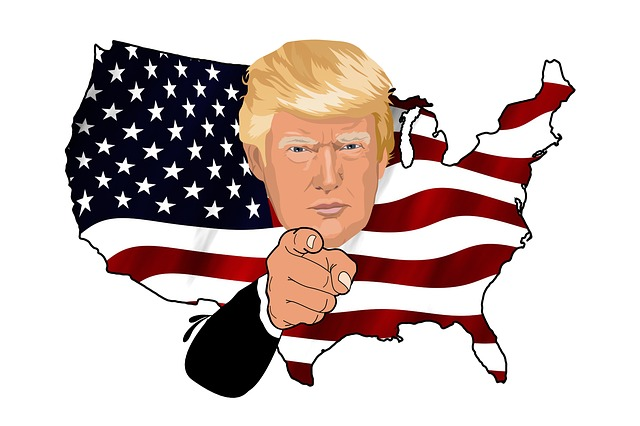 Trump, President, Uncle Sam, Usa, America, Flag