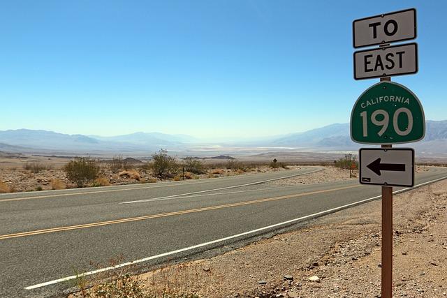Sign, Usa, Landscape, Death Valley