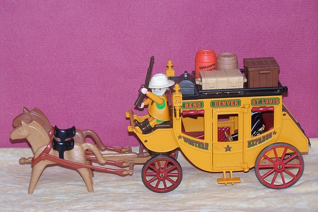 Playmobil, Western, Usa, America, Stagecoach, Toys
