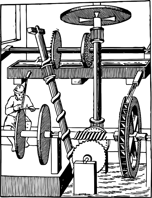 Water, Device, Using, Motion, Water Wheel, Wheel