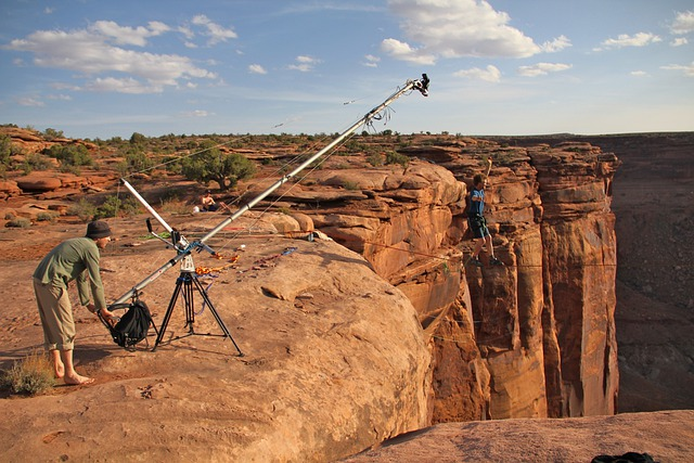 Moab, Utah, Mountains, Film Crew, Men, Filming, Scenic