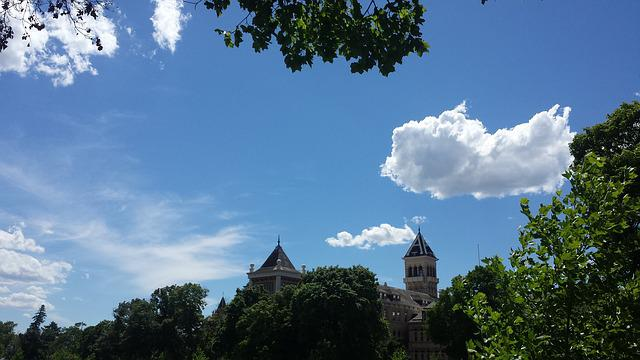 Utah State, Aggies, Old Main, Sky, University, Castle