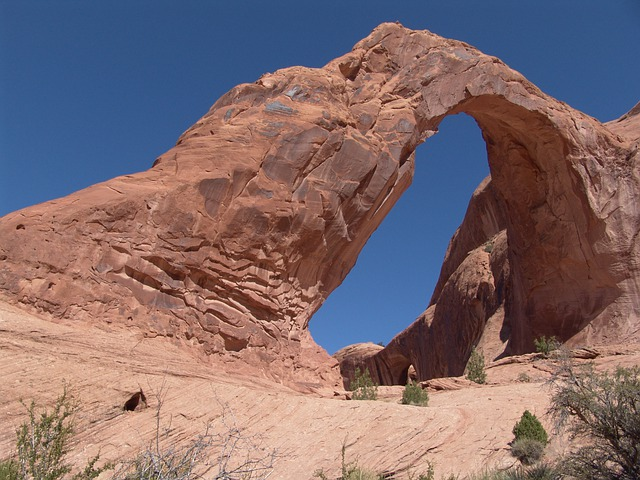 Corona Arch, Moab, Utah, Stone Arch, Erosion, Sandstone