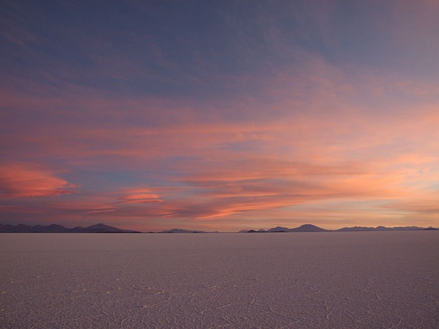 Salar, Uyuni, Sunset, Bolivia