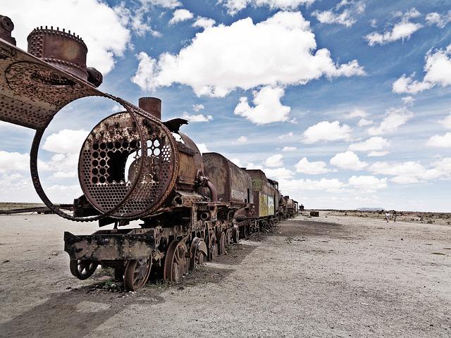 Cemetery Of Trains, Uyuni, The Salar De Uyuni, Bolivia