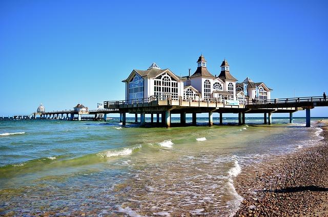 Sea Bridge, Baltic Sea, Sellin, Vacations, Architecture