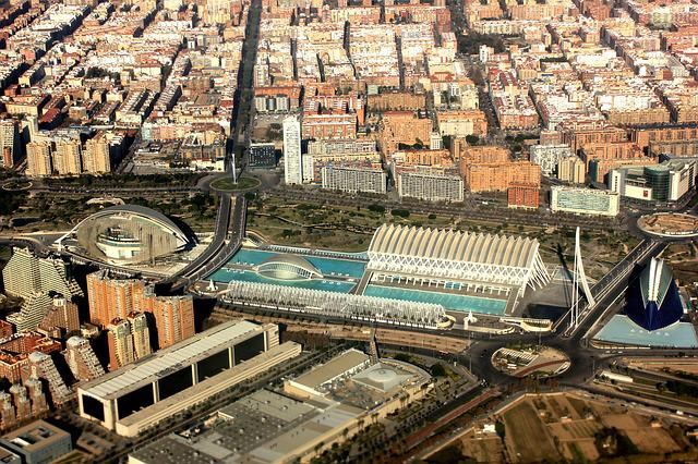 Aerial View, Valence, Spain, City Science