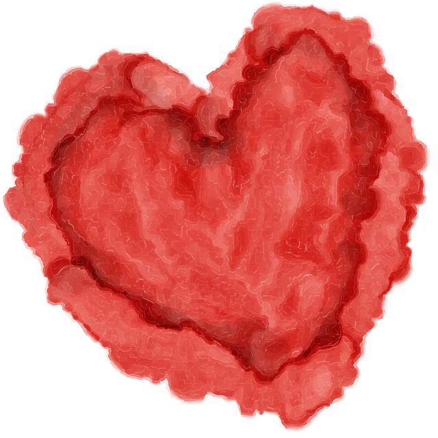 Heart, Watercolor, Red, Valentine, Day, Isolated, Love