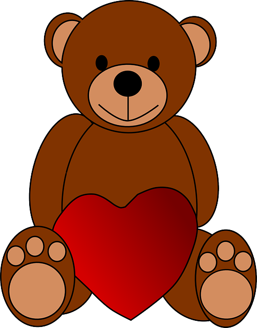 Bear, Heart, Love, Teddy, Toy, Valentine, Brown