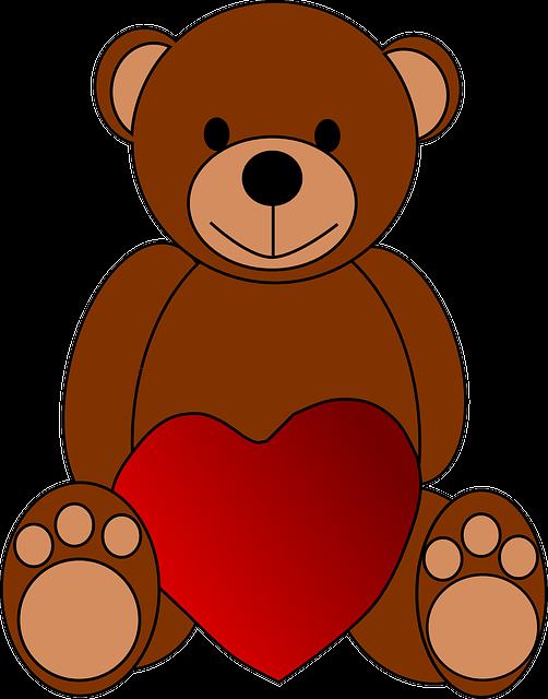 Bear, Heart, Love, Teddy, Toy, Valentine, Brown