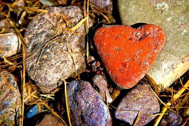 Stones, Heart, Nature, Love, Romantic, Valentine's Day
