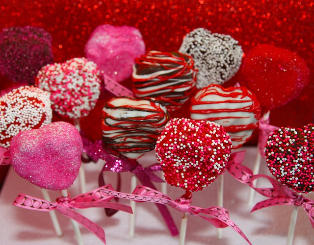 Cake Pops, Hearts, Red, Gourmet, Valentines Day, Treats