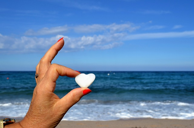 Heart, Valentine's Day, Sea, Pierre, Hands