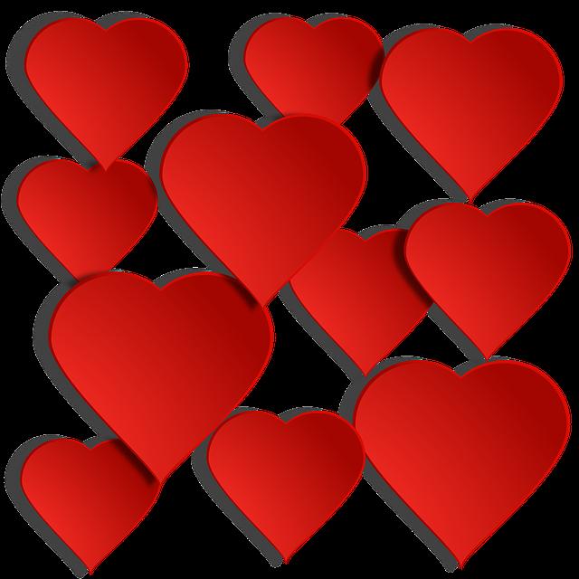 Red, Heart, Translucent, Shadow, Valentine's Day