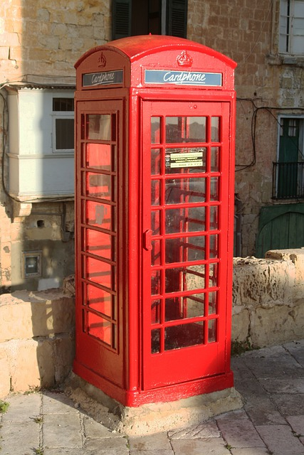 Malta, Valetta, Phone Booth