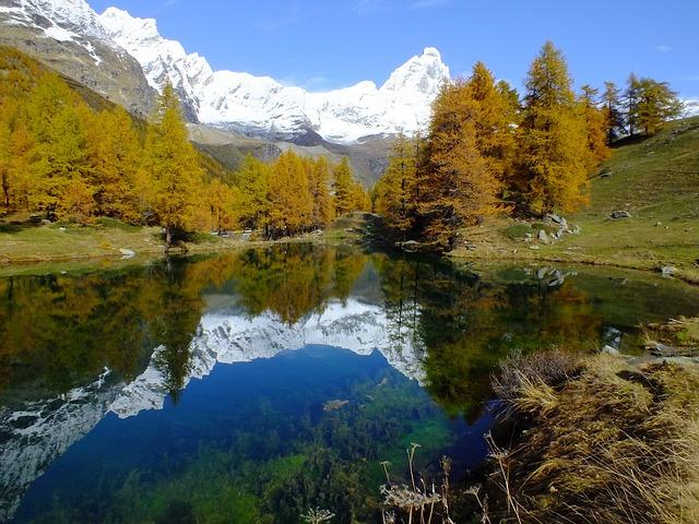 Lago Bleu, Valle D'aosta, Aosta Valley, Lake, Mirror