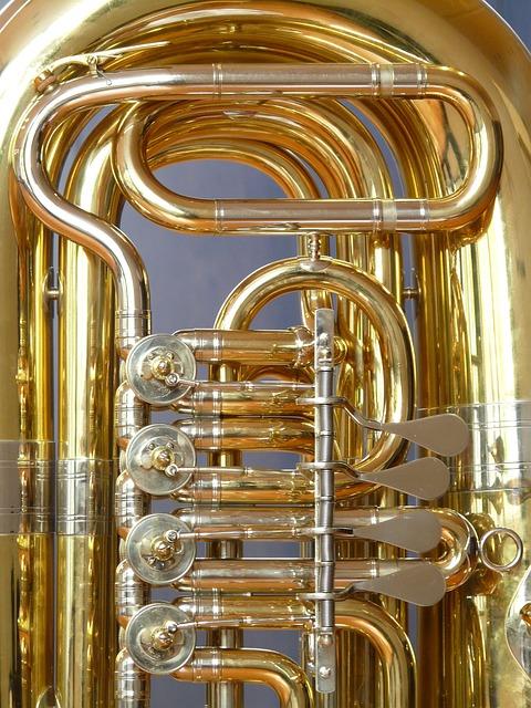 Tuba, Valves, Rotary Valves, Stimmzug, Brass Instrument