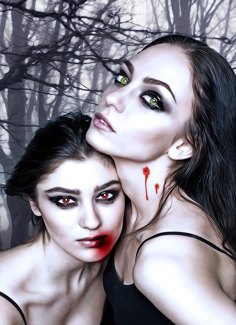 Vampires, Vamps, Female, Couple, Fantasy Girls, Girls