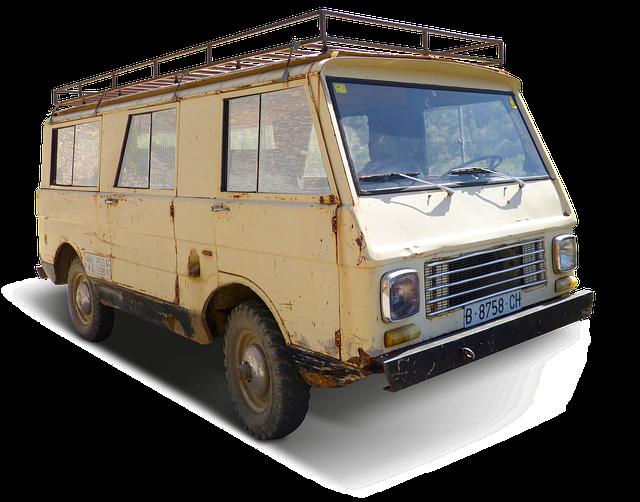 Van, Vintage, Jeep, 4 X 4, Historic Vehicle