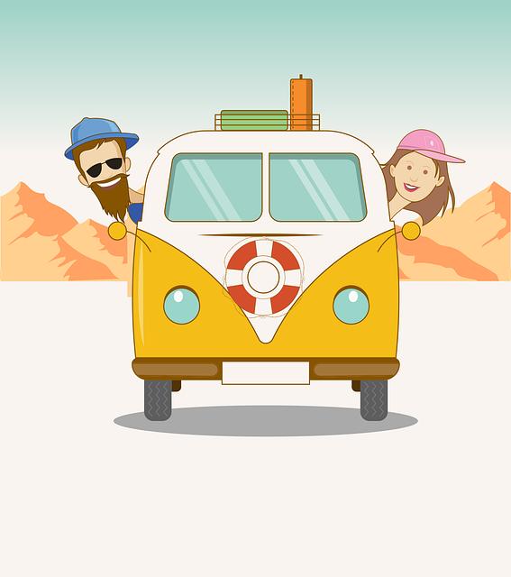 Road, Trip, Couples, Wanderlust, Hippie, Van, Yellow