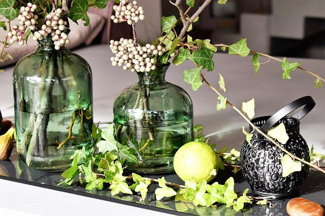Deco, Decoration, Table Decorations, Vases, Glass