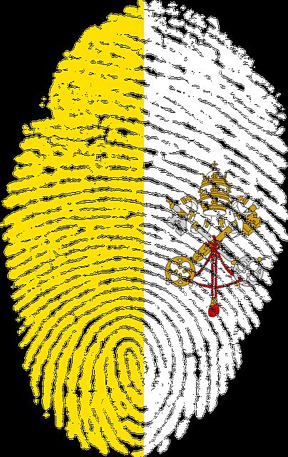 Vatican, City, Hoy See, Flag, Fingerprint, Country