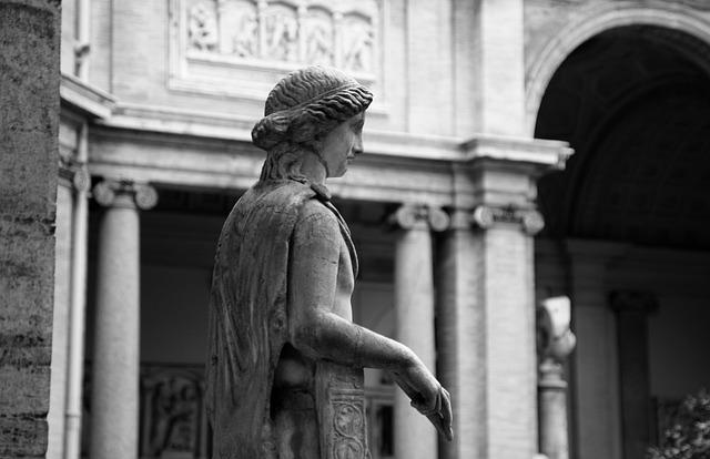 Musei Vaticani, Vaticano, Roman, Italy, Roma, Statue