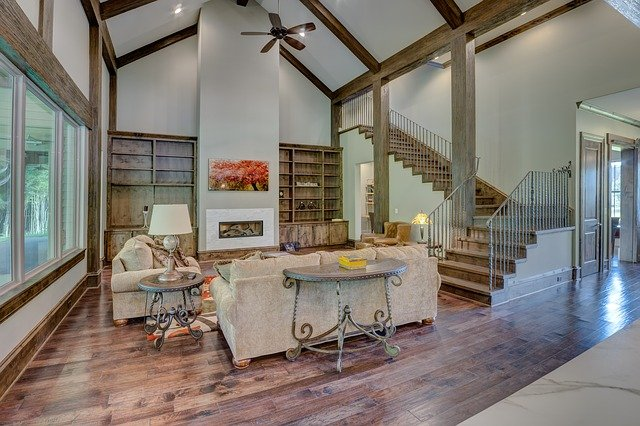 Living Room, Vaulted Ceiling, High End