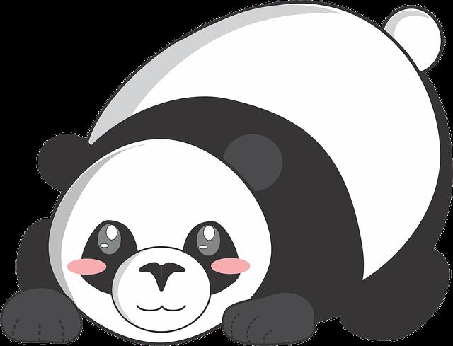 Panda, Cartoon, Cute, Animal, Comics, Vector