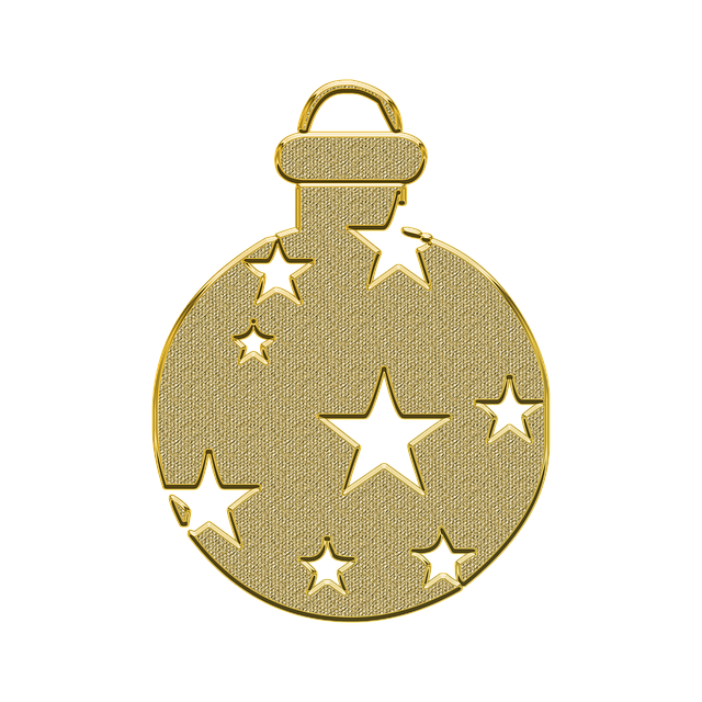 Ornament, Decor, Vector, Gold, Golden, New Year, Toy