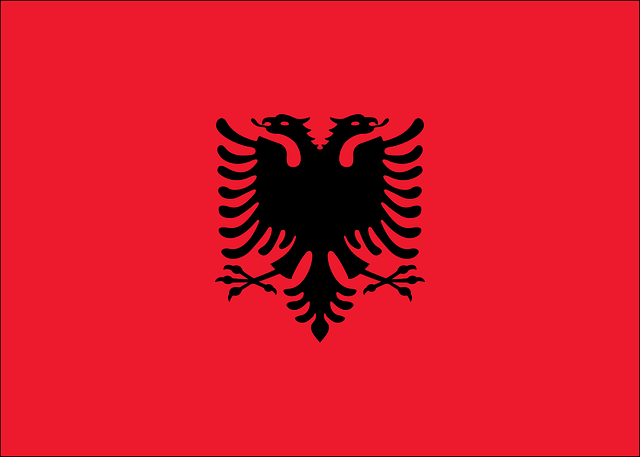 Albania, Vector, Country, Flag