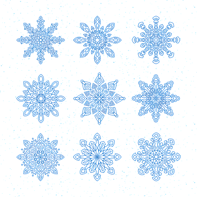 Snowflakes, Vector, New Year's Eve, Christmas, Holiday