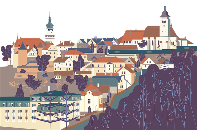 Nove Mesto Nad Metuji, Czech Republic, Vector, Artwork