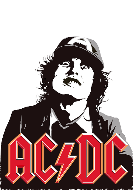 Printing On T-shirt, Ac Dc, Rock-group, Vector, Music